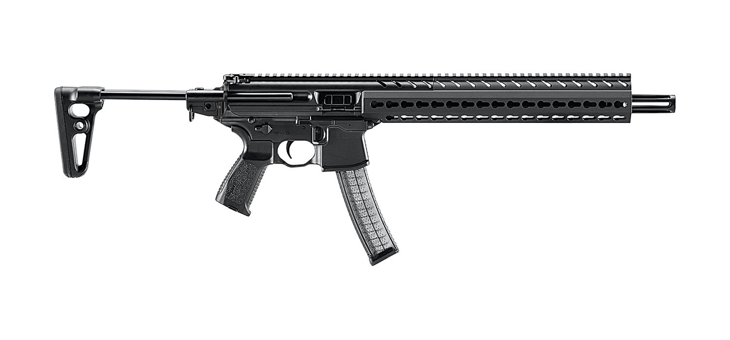 MPX Carbine |9mm 16 Inch Barrel (13.3 Inch Plus 2.7 Inch Fixed Flash Hider) KeyMod Rail System Adjustable Stock 30 Rounds