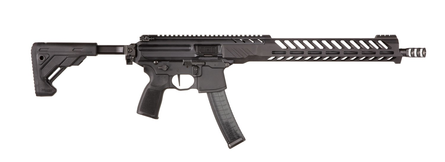 MPX PCC Competition |9mm 16 Inch Barrel Timney Trigger Slim M-lok Handguard 3-Port Comp Adjustable Stock 30 Rounds