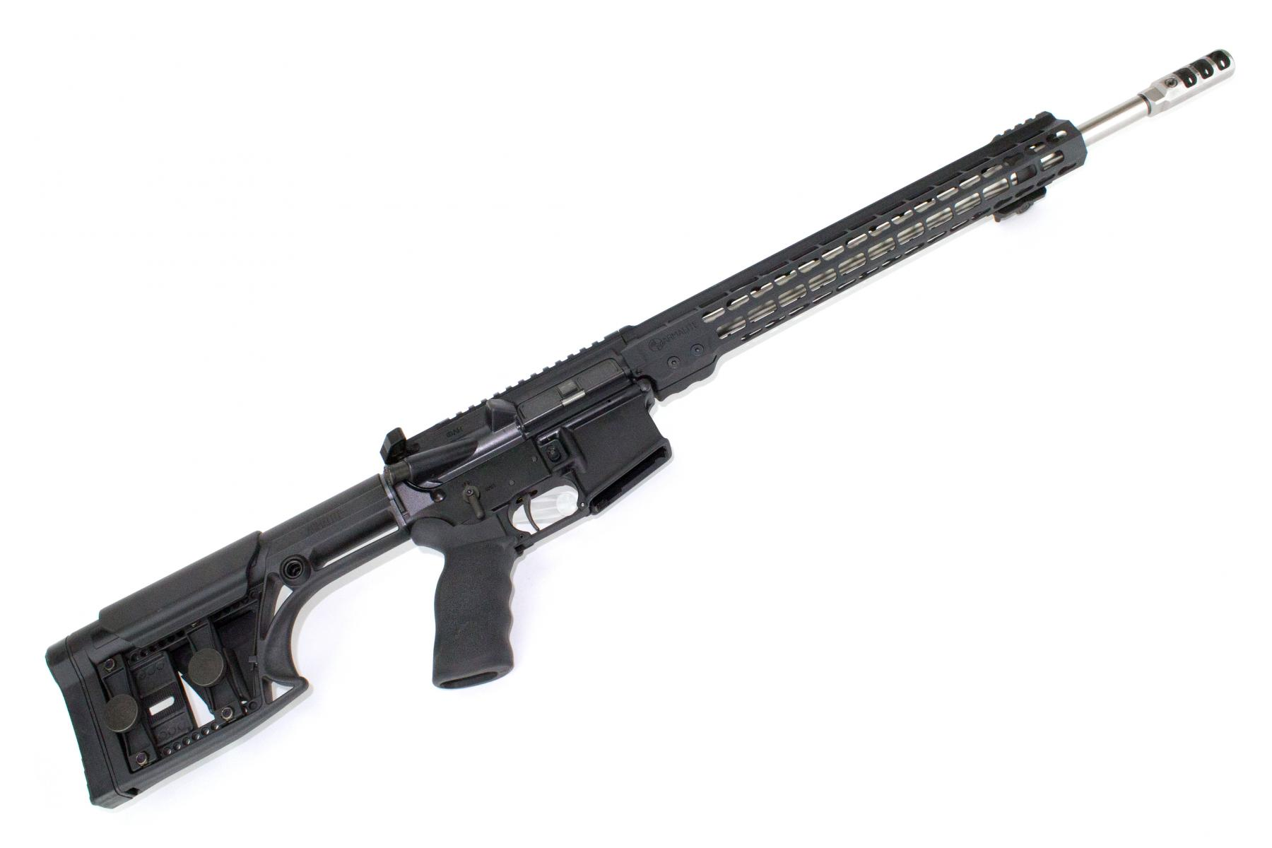 "CONSIGNED Armalite M-15 3-Gun Rifle |223 Wylde 18"" 1:8 Twist Stainless Barrel, Timney 3Lb Trigger, 15"" Keymod Handguard, Luth-AR MBA-1 Stock, Tunable Muzzle Brake, Raptor Charging Handle, Original Box, 30 Round PMAG"