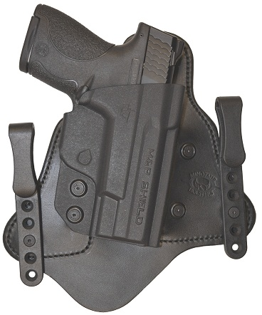Minotaur MTAC Holster - Glock -19/23/32  - Right - 1.5 inch - Black Clips  - Black