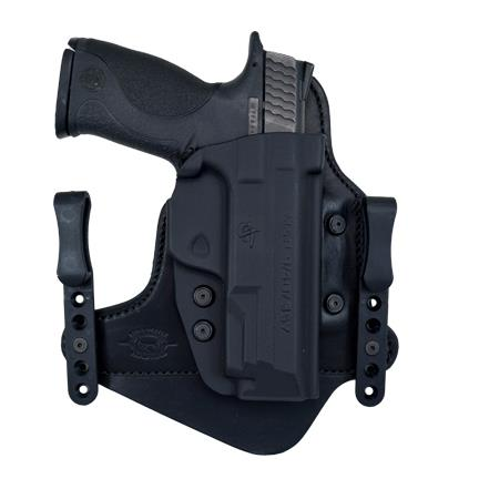 Minotaur Neutral (Appendix Carry) Holster - Springfield - XDS - Right - 1.5 inch - Black Clips - Black Backing