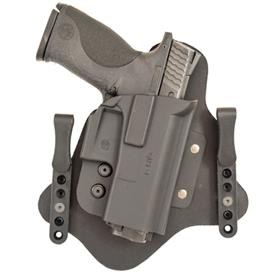 Q-Line Holster QH Hybrid Kydex/Leather IWB Tuckable Size 3 | Multi-fit Glock 43, Springfield XDS, S&W Shield, Walther PPS/CCP