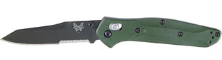 "Osborne |Modified Tanto, S30V Premium Stainless Steel, Black coated 3.4"" serrated blade"