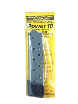 Power 10 Extra Magazine With Removable Base For .45ACP 10 Round Stainless Steel