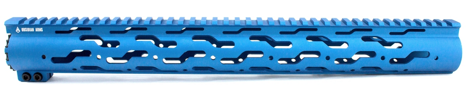 "S-Pattern Free Float Handguard |16.5"", Blue, AR-15"