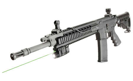 X5L-RS Green Laser And Tactical LED Light With Rotary Selector Dials For Rifles Black