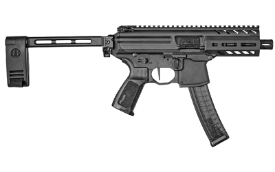 MPX-K Pistol With SBX Pistol Stablizing Brace 9mm 4.5 Inch Barrel Aluminum KeyMod Handguard Black Finish 30 Round