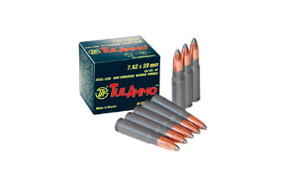 Tula Ammo Target |762X39, 124 Grain, Full Metal Jacket, Box of 100 Rounds