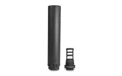 "Resonator Suppressor, 30 Caliber, Rifle Suppressor, 16oz, 7.825"" Long, 1.562"" Diameter, Black Finish, Includes Muzzle Brake (YHM-4302-MB-24A), 5/8x24 YHM-2130-MB-24"