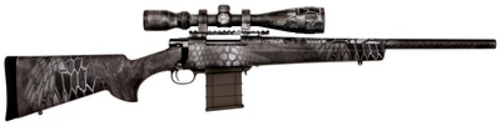 Kryptek Full Dip Rifle Package .308 Wnchester 20 Inch Heavy Barrel 4-16x44mm Nikko Stirling Scope Typhon Camouflage 5 Round