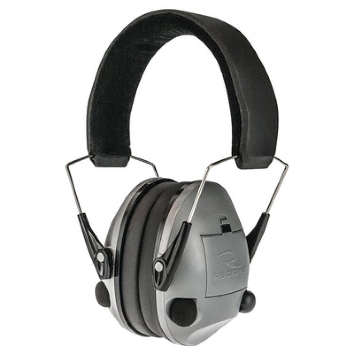 Radians Sporting Goods 674326278483 TV0600CS Transverse Electronic Ear Muffs NRR20 Silver