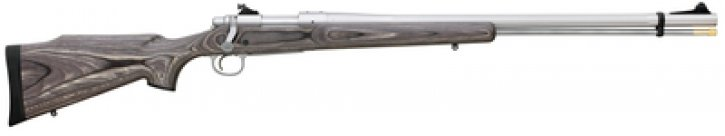 Model 700 Ultimate Muzzleloader .50 Caliber 26 Inch Stainless Steel Fluted Barrel Williams Peep Sight Bell and Carlson M40 Laminate Stock