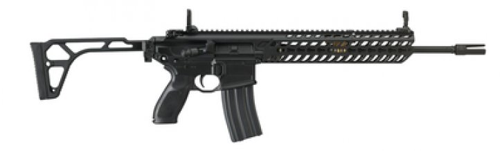 MCX Patrol 5.56mm NATO 16 Inch Barrel Aluminum KeyMod Handguard Flip-Up Sights Thin Folding Stock Black Finish 30 Round
