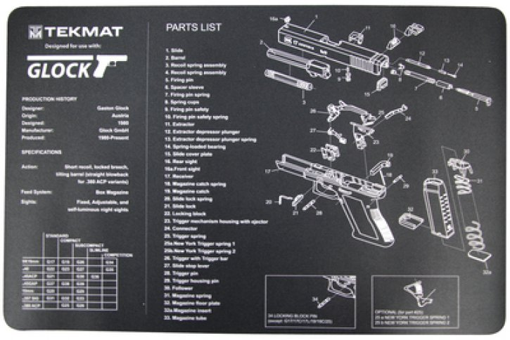 Blueprint Gun Cleaning Mat 11x17 Inches For Glock