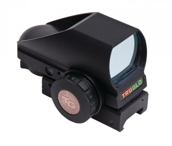 Truglo 788130014295 TG8380B Tru-Brite Open Red Dot Sight Red/Green Illumination Multi Reticles