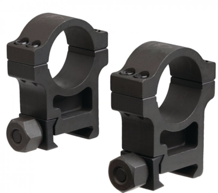 Trijicon 719307400559 TR101 AccuPoint Extra-High Aluminum Rings Hard Coat Black One Inch