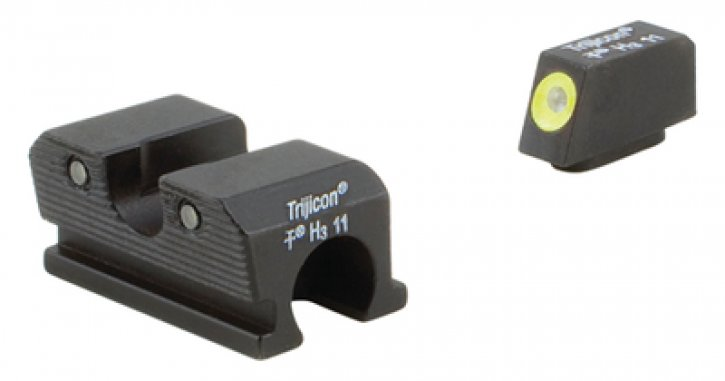 Trijicon 719307212114 WP101-C-600737 Trijicon Heavy Duty Night Sights Yellow Front Outline Walther 99/PPQ