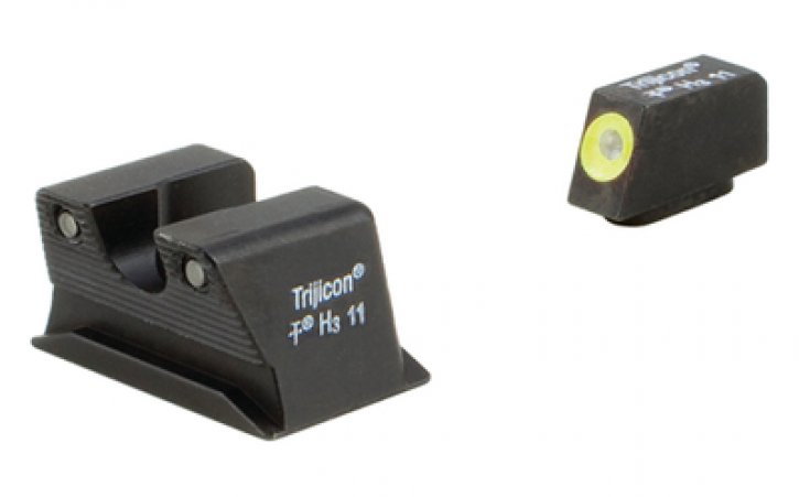 Trijicon 719307212169 WP102-C-600742 Trijicon Heavy Duty Night Sights Yellow Front Outline Walther PPS