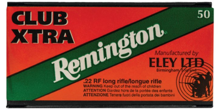 Eley .22 Long Rifle Club Xtra 40 Grain Lead Round Nose 10 Boxes of 50