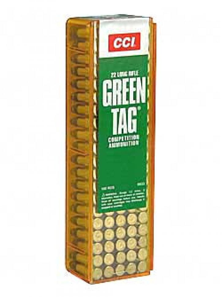 CCI 076683000330 0033 Green Tag .22 Long Rifle 40 Grain Lead Round Nose