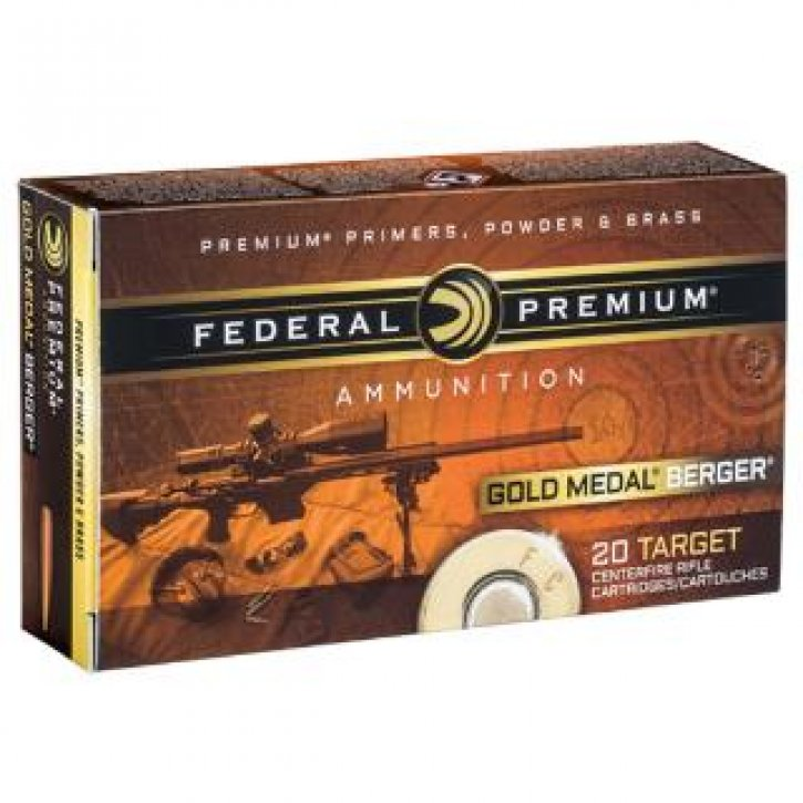 Federal Gold Medal Berger |6 5 Creedmoor 130 Grain Berger VLD Bullet, Box  of 20 Rounds