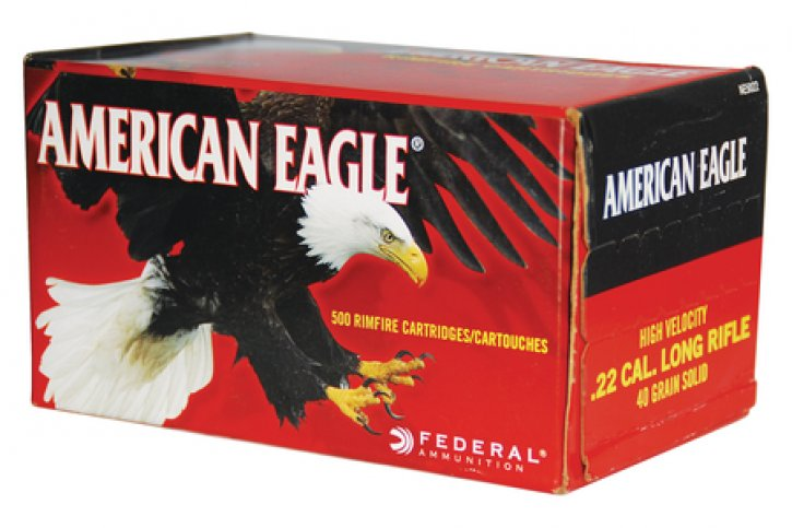 Federal 50029465016918 AE5022C American Eagle .22 Long Rifle High Velocity 40 Grain Solid
