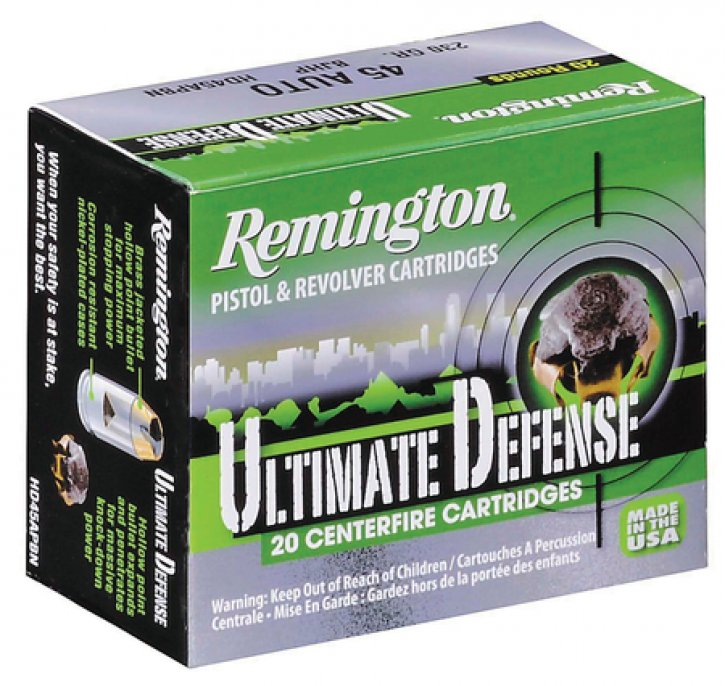 Remington 047700419800 HD45APBN Ultimate Home Defense .45 ACP 230 Grain Brass Jacketed Hollow Point