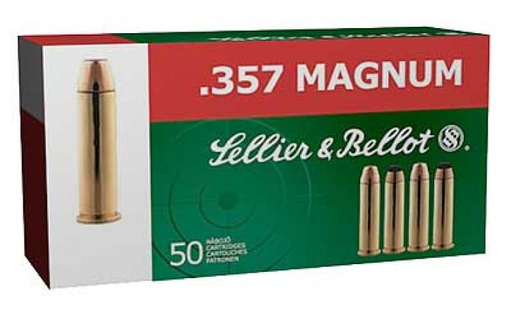 Sellier and Bellot 754908500536 sb357a Handgun Ammunition .357 Magnum 158 Grain Full Metal Jacket