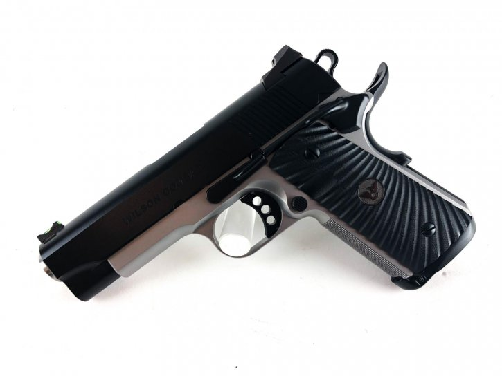 "Wilson Combat CQB Compact 1911 |45ACP 4"" Match Grade Bull Barrel, Round Butt Magwell Upgrade, Ambi Safety, Two Tone Finish, G10 Starburst Grips, Fiber Front Sight"