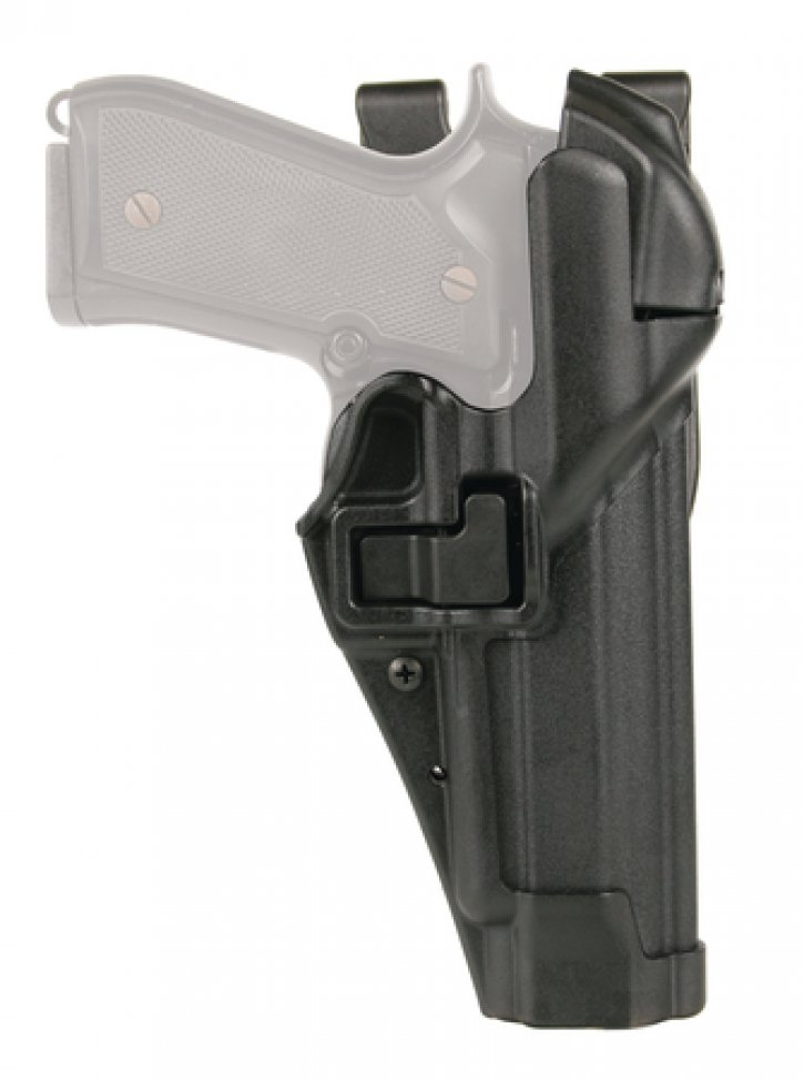 Level 3 Serpa Auto Lock Duty Holster Matte Black Right Hand For Beretta 92/96