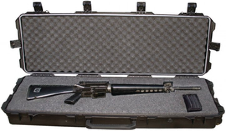 Model iM3100 Carbine Hard Case With In-Line Wheels Black Lockable