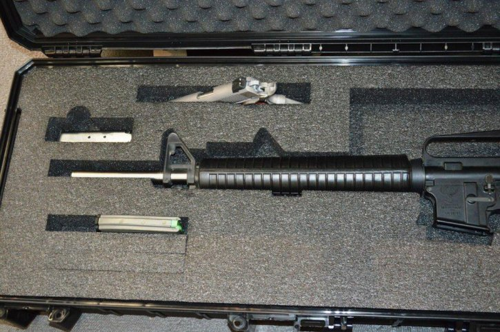 Quick Fire AR15-A2 Case Black With MultiFit Pistol Slot & Mags and 6 AR Mag Slots