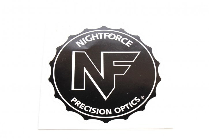 Nightforce Sticker Large Black