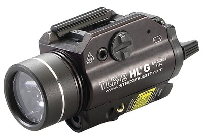 TLR-2 HLG LED Rail-Mounted Tactical Light With Green Laser
