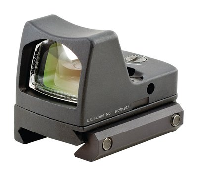 RMR Type 2 Ruggedized Miniature Reflex LED Sight With RM33 Picatinny Mount 6.5 MOA Red Dot Reticle Matte Black Finish