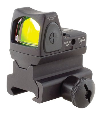 RMR Type 2 Ruggedized Miniature Reflex Adjustable LED Sight With RM34 Picatinny Mount 3.25 MOA Red Dot Reticle Matte Black Finish