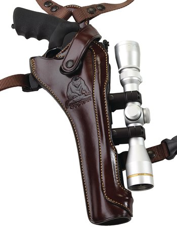 Kodiak Hunter Shoulder Holster For Smith & Wesson X Frame .460/.500 With Scope 8.37 Inch Barrel Havana Brown Right Hand