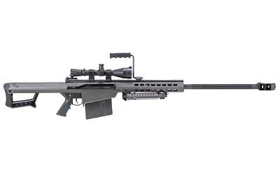"82A1, Semi-automatic, 50BMG, 29"" Fluted Barrel, Black Finish, Synthetic Stock, 10Rd, Kit with Mono Pod, 1 Magazine, Carry Case, Leupold MK4, 4.5x14, Mil-dot Reticle, M1 Turrets With .25MOA Adjustments, Scope Rings 13317"