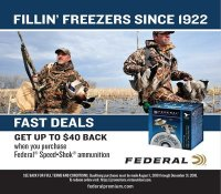 GET UP TO $40 BACK when you purchase Federal Speed Shok ammunition