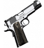 "Eclipse Target II 1911 |45ACP 5"" Barrel, Two Tone Finish, Front Cocking Serrations, Adjustable Night Sights, Double Diamond Wood Grips, One 7-Round Magazine"
