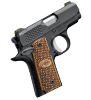"Micro-Carry Raptor | 380ACP 2.75"" Barrel, Zebra Wood Grips, Night Sights, Ambi Safety, One 6 Round Magazine"