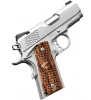 "Stainless Ultra Raptor II 1911 |45ACP 3"" Barrel, Stainless Slide, Alloy Frame, Night Sights, Ambi Safety, Zebra Wood Scale Pattern Grips, One 7 Round Magazine"