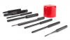 AR-15 Armeror's Punch Set |3 starter punches 3 roll pin punches 1 flat punch 1 double sided delrin plastic punch